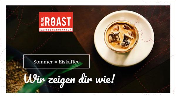 Eis-Kaffee-Aktion Blankroast