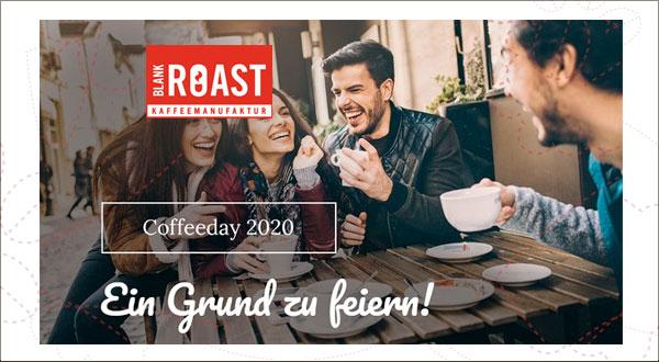 15% Rabatt-Aktion Tag des Kaffees Blankroast