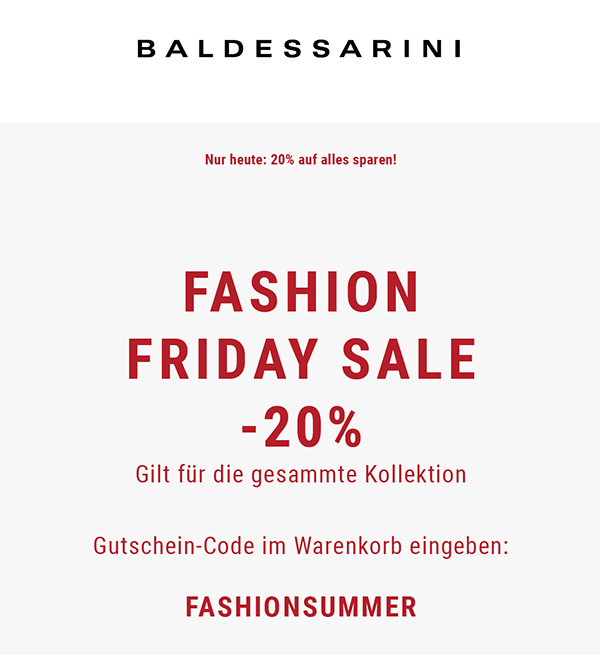 Fashion Friday Sale bei Baldessarini