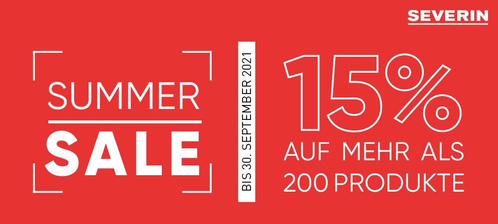 Summer Sale bei SEVERIN